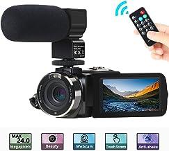 Cámara de Video, ACTITOP Camcorder FHD 1080P 24MP IR Visión Nocturna Videocámara con Pantalla Táctil LCD de 3