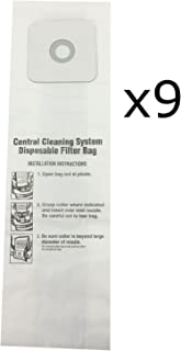 CV350, CV352, CV353, CV450, CV653 CENTRAL VACUUM BAGS for Nutone 9-Pack