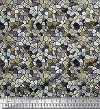 Soimoi 44 Zoll Breit Mosaik Printed Reine Seide Craft
