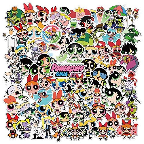 WWLL 74 Hojas en la Maleta de Personalidad Animada de Dibujos Animados Pegatinas de Graffiti a Prueba de Agua Pegatinas de monopatín para portátil