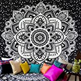 Ghoody Chic Bohemia Mandala Floral Tapiz para Colgar en la Pared Decoración de Pared Moda Tribu Estilo Tapicería