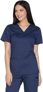 Cherokee Workwear Core Stretch Women's V-Neck Solid Scrub Top