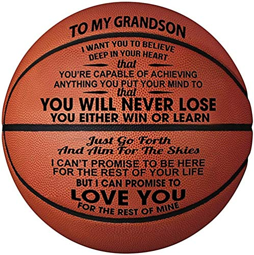 Review Engraved Basketball For Son - Personalized Basketball Indoor/Outdoor Game Ball For Son - To M...