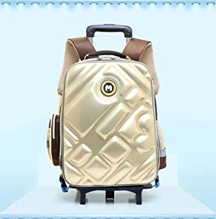 Primary School Men And Women Trolley Bag Detachable Two-Wheeled Children's Shoulder Bag Hard Shell Student Backpack
