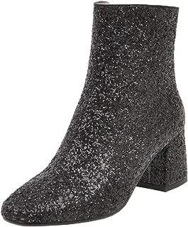 Best black sequin ankle boots Reviews
