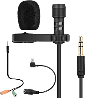 Goofly Lavalier Lapel Microphone Clip-on Omnidirectional Mic Condenser Microphone Audio Recorder YouTube/Interview/Podcast...