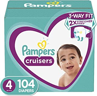 Diapers Size 4, 104 Count - Pampers Cruisers Disposable Baby Diapers, Giant Pack (Packaging May Vary)