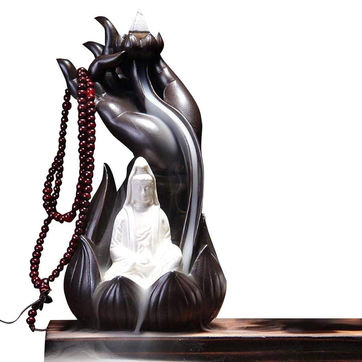 シール時々時々すべてGetupp 陶器 倒流香 香炉 線香立て 流川香 お香用具 お線香 渦巻き線香 アロマ 香熏香炉 逆流 癒し香炉 仏壇用香炉 自然の雰囲気 ヨガ 瞑想 庭園用 (スタイルc)