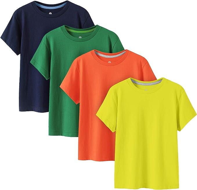 932 opinioni per LAPASA 100% Cotone Maglietta a Manica Corta Bambini Unisex Multi-Colore Pacco da