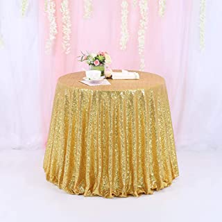 TRLYC 72 Inch Round Sequin Tablecloth for Wedding Party Banquet