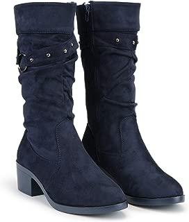 DEEANNE LONDON Women's Block Heel Boots