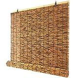 ZGC Tapparella Avvolgibile bambù, Tapparella a Lamella Naturale,Tapparella a Carrucola in Bamboo, Schermi per Privacy,per Esterno/Interno,Personalizzabile (Size: 115x170cm/46x68in)