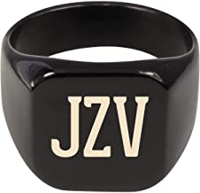 Molandra Products JZV - Adult Initials Stainless Steel Ring