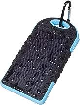 300000mAh Portable Waterproof Solar Charger Dual USB External Battery Power Bank (Blue)