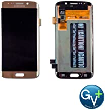 Group Vertical Replacement AMOLED Touch Digitizer Screen Assembly Compatible with Samsung Galaxy S6 Edge (Gold Platinum) (SM-G925) (GV+ Performance)