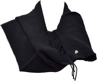 Lauren Ralph Lauren Womens Cashmere Wool Convertible Black Shawl Wrap Scarf