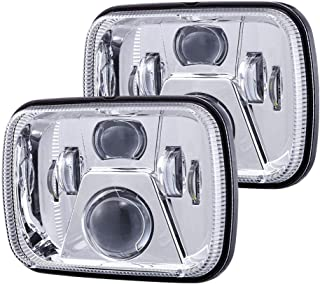 New Osram Chips 110W 5x7 Inch Led Headlights 7x6 Led Sealed Beam Headlamp with High Low Beam H6054 6054 Led Headlight for Jeep Wrangler YJ Cherokee XJ H5054 H6054LL 6052 6053 Silver 2 Pcs