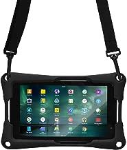 Cooper Trooper 2K Rugged Case for 7 inch Tablet | Tough Bumper Protective Drop Shock Proof Kids Holder Carrying Cover Bag, Stand, Hand Strap (Black)