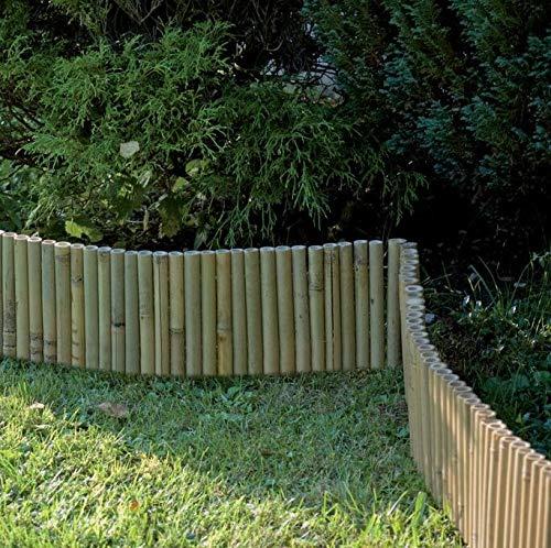 Beeteinfassung/Beetumrandung aus hellem Bambus, in Rollenform 100x35cm