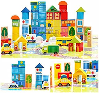 City Wooden Building Blocks Stacking Set Toys For Kids By Zhisheng You New