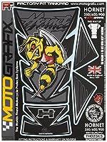 MOTOGRAFIX(モトグラフィックス) タンクパッド Hornet 250/600/900 ブラック/シルバー MT-TH023KS