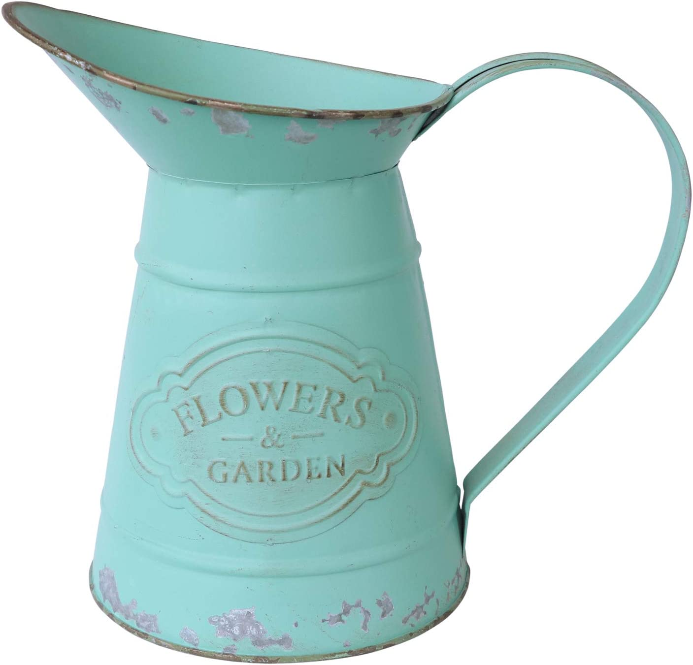 APSOONSELL Shabby Chic Rustic Style Vas Metal Pitcher Philadelphia Mall Jug Flower Cheap mail order sales
