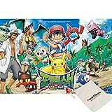 Yearimi Pokemon Sun & Moon - Puzzle con Marco de 88 Piezas, Incluye Bolsa