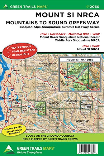 Mount Si * NRCA, WA No. 206S (Green Trails Maps)