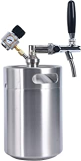 YaeBrew 170 oz 5L Homebrew Keg System Kit for Home Brew Beer - with a Cool Bank Beer Dispensor, Cool Bank Mini CO2 Regulator and a Cool Bank 170 Ounce Stainless Steel Keg