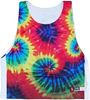 Tie Dye &ホワイトSublimatedリバーシブルSublimatedラクロスPinnie