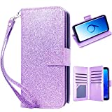 Galaxy S9 Wallet case, Samsung S9 case, Glitter Women Wallet Case...