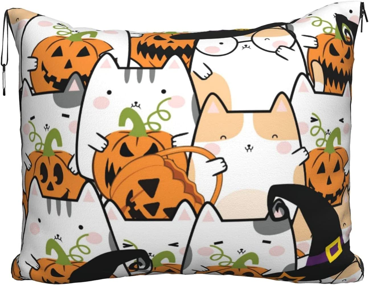 Travel Blanket Pillow Louisville-Jefferson County Mall Happy Halloween in B Pillowc Throw Credence