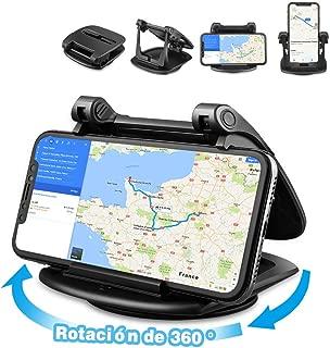 Cinati Soporte Móvil para Coche Rotación de 360 Soporte Universal Movil Coche Adecuado para el Tablero de Instrumentos, para iPhone/Samsung Galaxy/Huawei/One Plus/Sony, etc.
