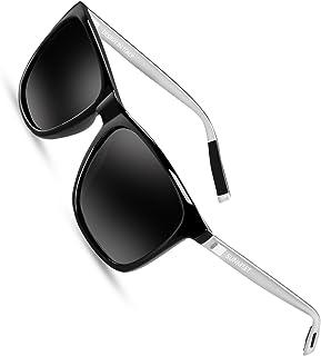 ff528c6e58 SUNMEET Occhiali da sole Uomo Polarizzati per Uomo Vintage Occhiali da sole  Uomo UV400 Protezione S1001