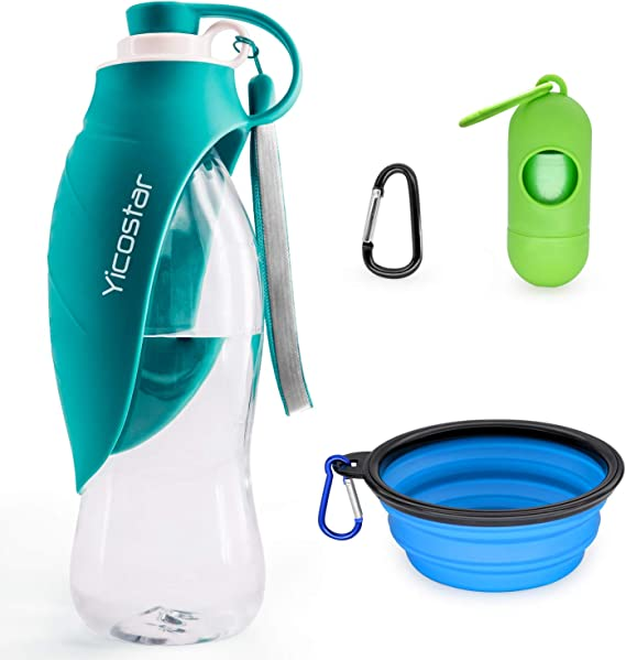 Yicostar Dog Water Bottle for Dogs
