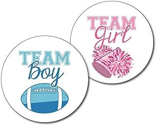 football and cheerleader gender reveal