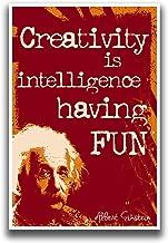 Creativity Is Intelligence Having Fun Poster 2   Albert Einstein   18-Inches By 12-Inches   JSC109