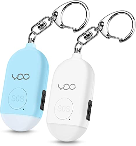 YDO Safe Personal Alarm, 130db Personal Safety Alarm Siren Song for Women Keychain with USB Rechargeable, LED Flashli...