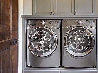 Autocollant pour buanderie, machine à laver, sèche-linge, machine, lettrage floral, vinyle, buanderie, décoration, vinyle ...