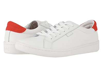 Keds Ace Leather (White/Red Leather) Women