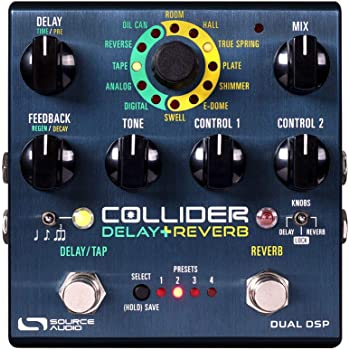 Source Audio Collider Delay+Reverb Guitar Multi-Effects Pedal
