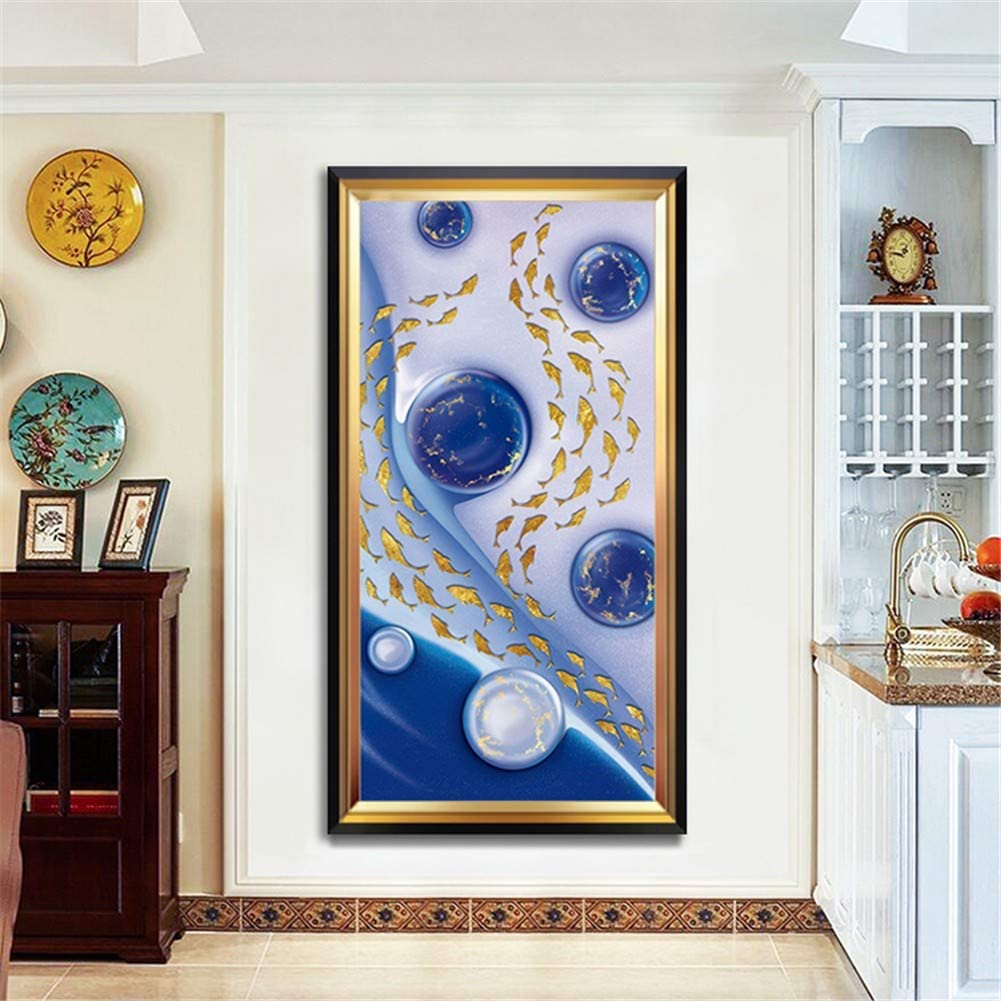 5D DIY Diamond Super popular specialty store Painting Art Outlet sale feature Full Rhinestone Crystal Set Goldfish