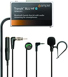 iSimple Hands-Free Calling and Music Streaming Kit with Control Button for Smartphones - Frustration-Free Packaging - Black