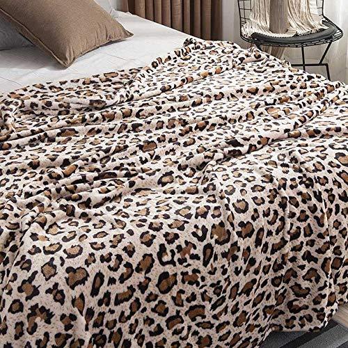 XOCKYE Gewichtsdecke Therapiedecke Weighted Blanket Schwere Decke für Erwachsene Gewichtete Decke Perfekt für Besseren Schlaf Tagesdecke@Leopard_150 x 200 cm