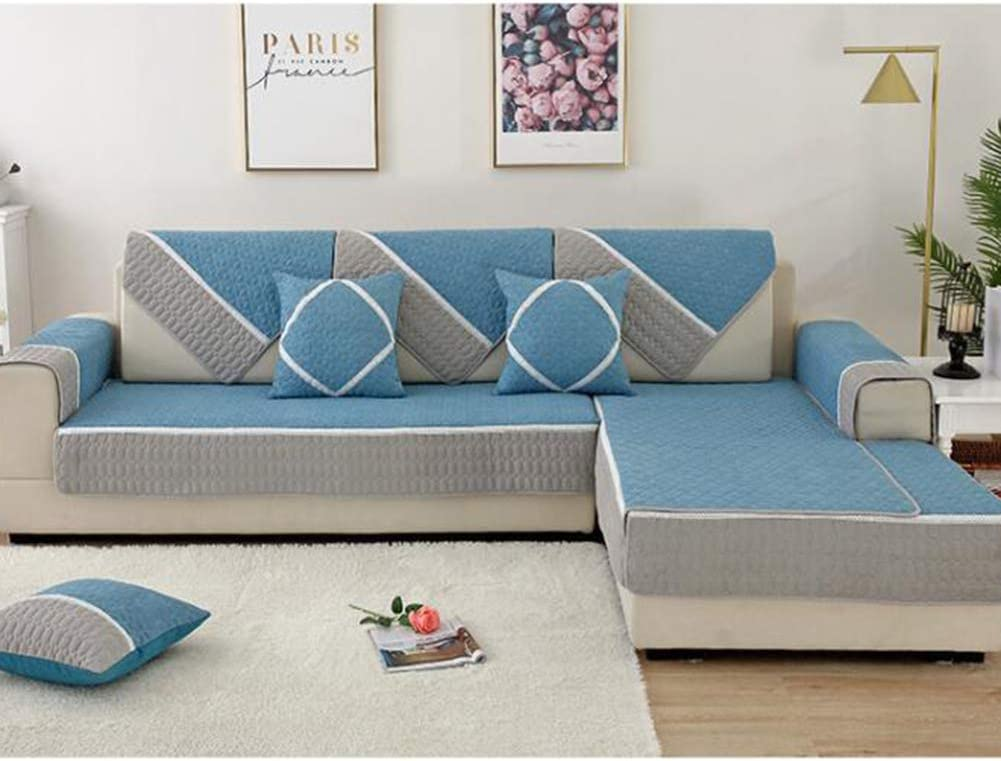 SAZDFY 日本メーカー新品 Cotton Quilted Sofa Anti-Slip Thick 待望 Cover Slipcover