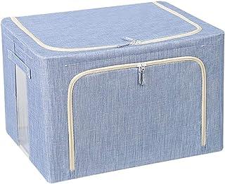 Boîte De Rangement Des Vêtements Pliable Avec Fermeture À Glissière, Boîte De Rangement En Tissu De Grande Capacité 66L Av...