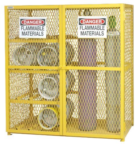 Durham Steel/Iron Combination Horizontal/Vertical Cylinder Storage Cabinet, EGCC8-9-50, 17 Cylinder Capacity, 30