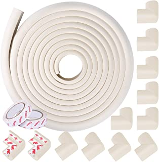 Cunina [Edge + 12 Corners] Edge Guard & Corner Bumpers for Baby Proofing Corner Cushion Bumper,Child Safety Home Safety Fu...