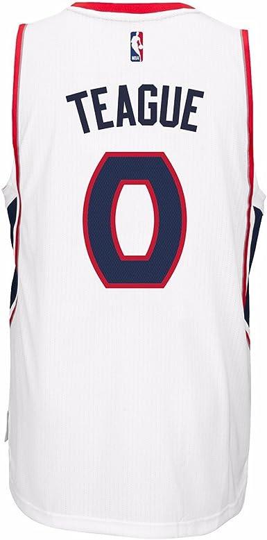 Amazon.com : adidas Jeff Teague Atlanta Hawks NBA Men's White 2014 ...
