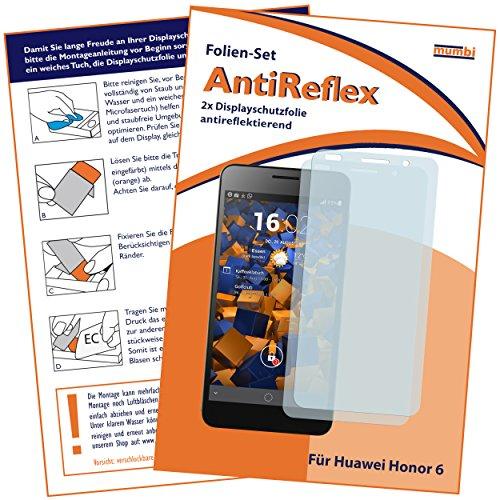 Schutzfolie kompatibel mit Huawei Honor 6 Folie matt, Displayschutzfolie (2X)